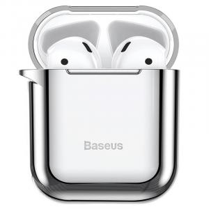 Baseus Shining Hook Case For AirPods 1st/2nd Generation, Silver - ARAPPOD-A0S