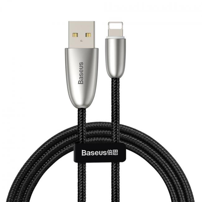 Baseus Torch Series USB Data Cable For iPhone 2.4A 1m, Black - CALHJ-C01