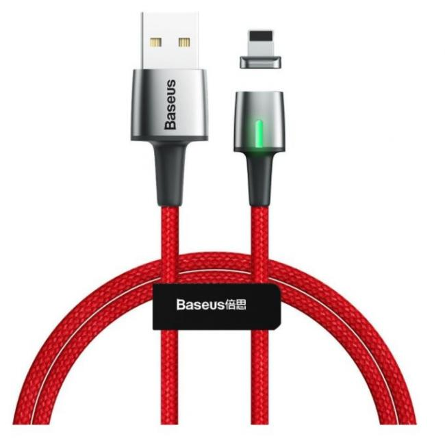 Baseus Zinc Magnetic USB Charging Cable For iPhone 2.4A 1m, Red - CALXC-A09