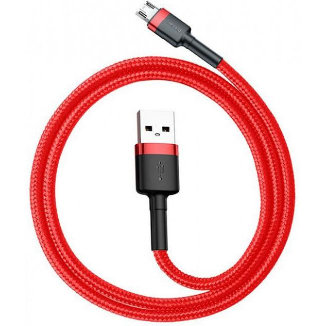 Baseus Cafule Micro USB Cable 2.4A 1M, Red - CALKLF-B09