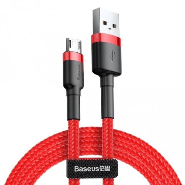 Baseus Cafule Micro USB Cable 1.5A 2m, Red - CAMKLF-C09
