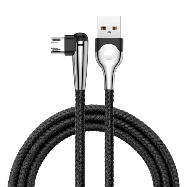 Baseus Game USB Cable for Micro USB 1.5A 2M, Black - CAMMVP-F01