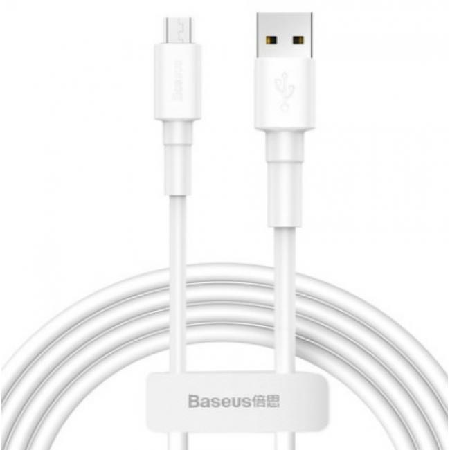 Baseus Mini USB Cable For Micro 4A 1m, White - CAMSW-D02