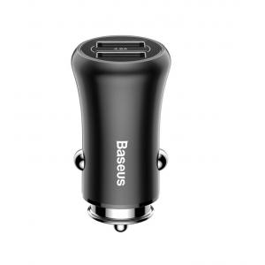 Baseus Gentry Series Dual-U Quick Charge Car Charger, Black - CCALL-GC01