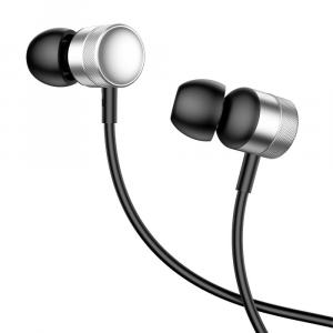 Baseus Encok Wired H04 Earphone, Silver - NGH04-0S
