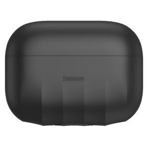 Baseus Shell Pattern Silica Gel Case For AirPods Pro, Black - WIAPPOD-BK01