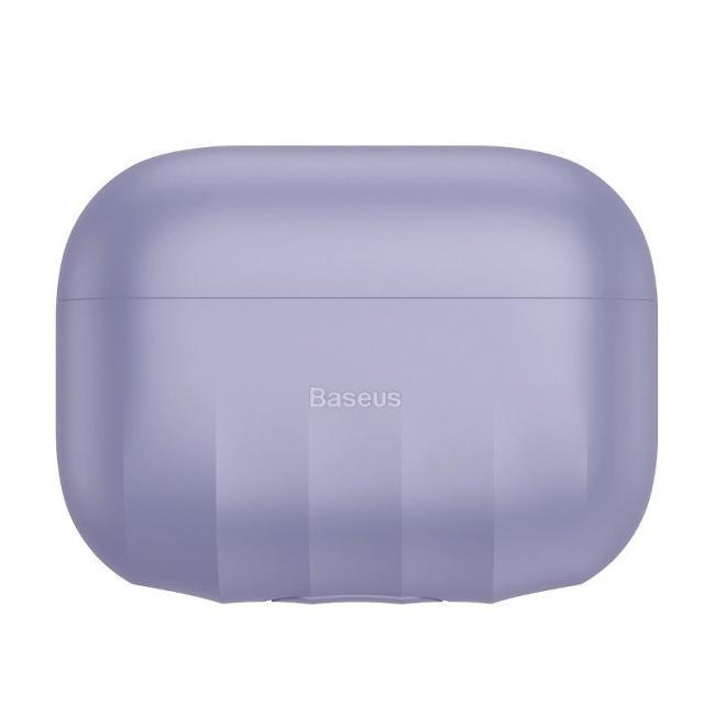 Baseus Shell Pattern Silica Gel Case For AirPods Pro, Purple - WIAPPOD-BK05