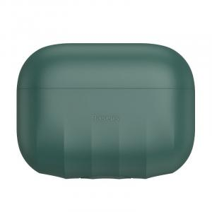 Baseus Shell Pattern Silica Gel Case For AirPods Pro, Green - WIAPPOD-BK06