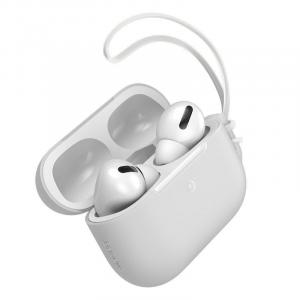 Baseus Let''s Go Jelly Lanyard Case for AirPods Pro with White Lanyard , White - WIAPPOD-D02