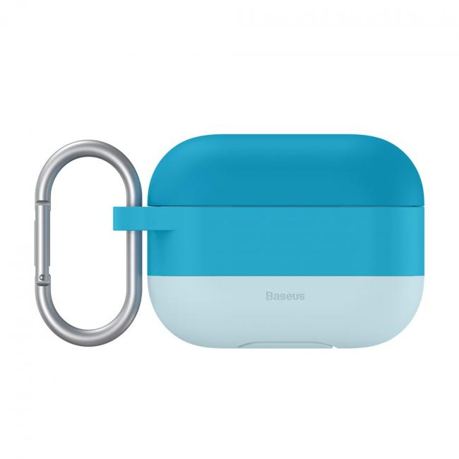 Baseus Cloud Hook Silica Gel Protective Case For AirPods Pro, Blue - WIAPPOD-E03