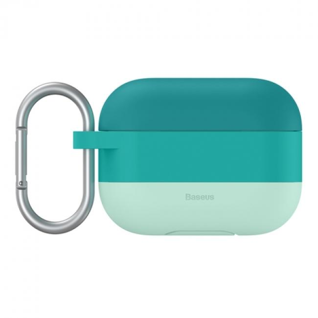 Baseus Cloud Hook Silica Gel Protective Case For AirPods Pro, Green - WIAPPOD-E06
