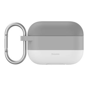 Baseus Cloud Hook Silica Gel Protective Case For AirPods Pro, Grey - WIAPPOD-E0G