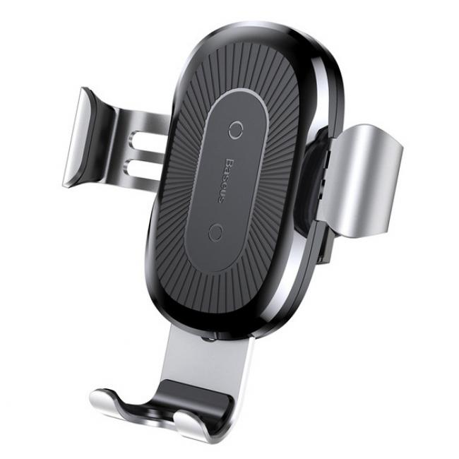 Baseus Wireless Charger Gravity Car Mount, Silver - WXYL-0S