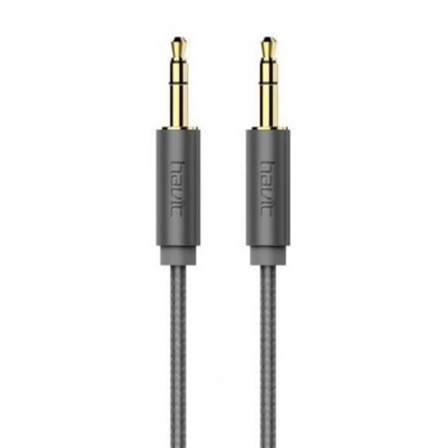 Havit Male to Male Audio Cable, Grey - HV-CB606X