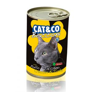 Cat & Co Chunks Chicken and Turkey Wet Cat Food 405gr - Carton of 24 pcs. - AAZCACO016