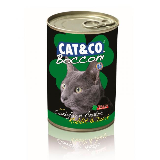Cat & Co Pate Rabbit and Duck Wet Cat Food 405gr - Carton of 24 pcs. - AAZCACO021