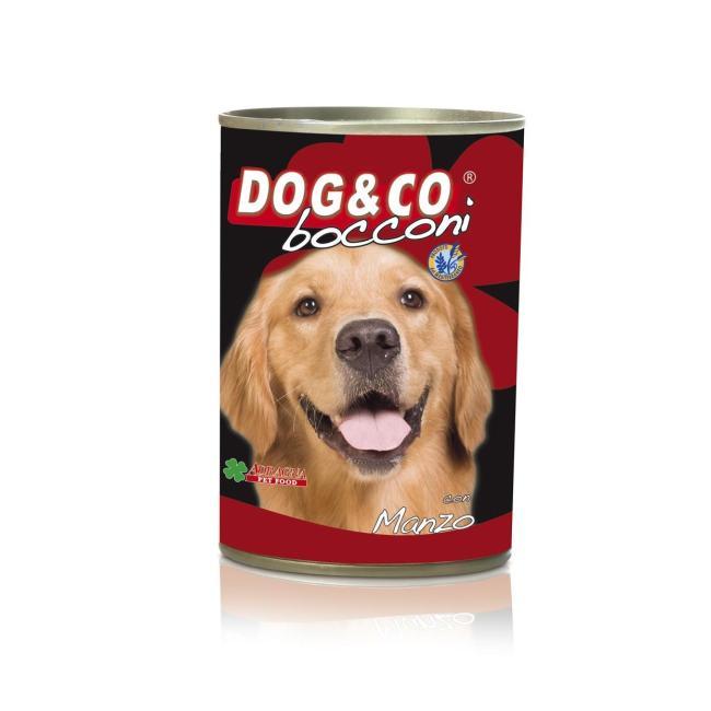 Dog & Co Chunks Beef Wet Dog Food 405gr - Carton of 24 pcs. - AAZDOCO007