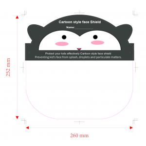 Protective Cartoon Style Kids Face Shield25 x 26 cm