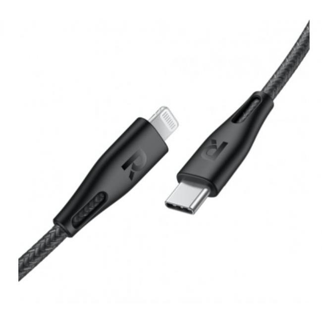 RAVPower Type-C to Lightning Cable 0.3m, Black - RP-CB1003BLK