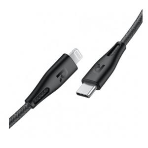 RAVPower Type-C to Lightning Cable 1.2m, Black - RP-CB1004BLK