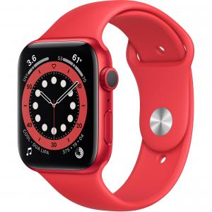 Apple Watch Series 6 GPS, 44mm, Red Aluminium Case  with Red Band - M00M3