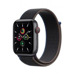 Apple Watch SE, 44mm, GPS + Cellular, 44mm, Space Grey Aluminium Case with Charcoal Sport Loop - MYF12