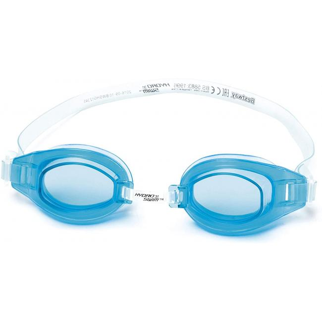 Bestway Crystal Clear Swimming Goggles - Light Blue, 21049-LB