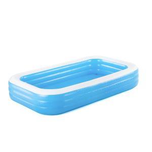 Bestway Deluxe Blue Rectangular Family Pool, 3.05m x 1.83m x 56cm - 54009