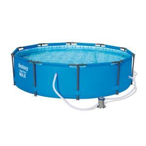 Bestway Steel Pro Round Pool, 244cm x 61cm - Blue, 56431