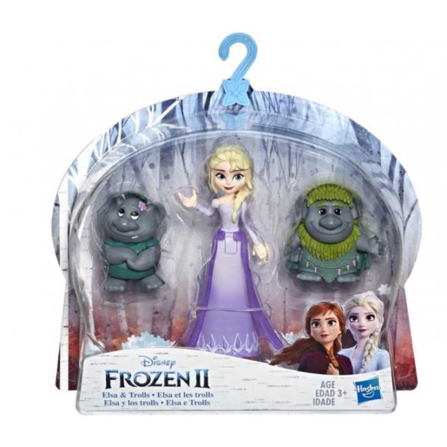 Hasbro Disney Frozen II Anna and Olaf Small Dolls With Basket Accessory - E5509