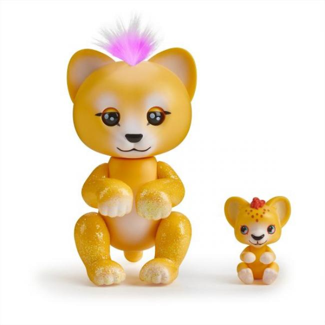 WowWee Fingerlings Light-Up Baby Mini Yellow Lion - 3520-WOW-YL