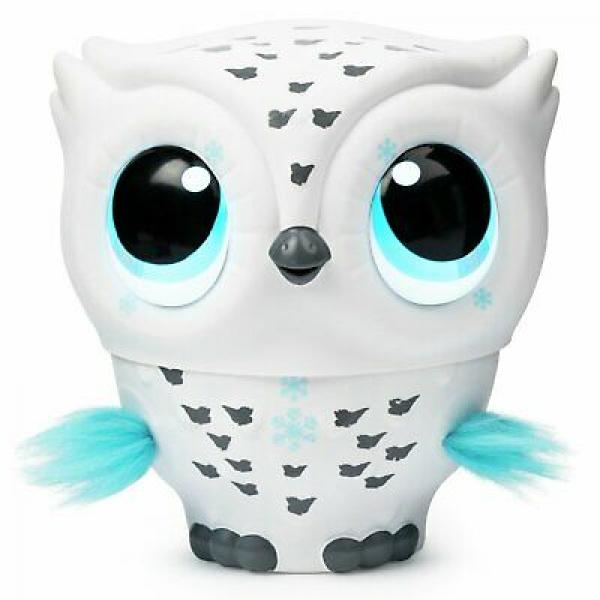 Owleez Baby Owl Flying Interactive Toy with Lights and Sounds, White - 6046148-T