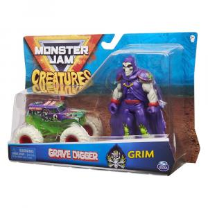 Monster Jam 1:64 Vehicle & Creatures Figs Assorted - 6055108-T