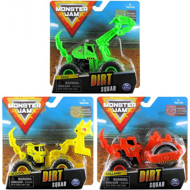 Monster Jam 1:64 Vehicles Dirt Squad Assorted - 6055226-T