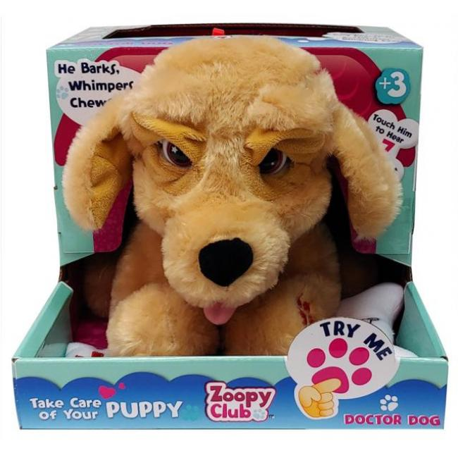 Zoopy Club Doctor Dog Plush for Kids - 113623-T