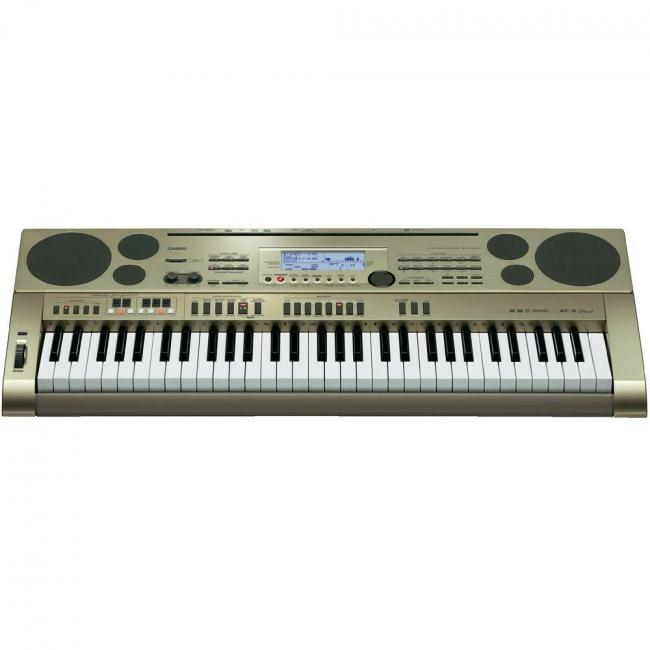 Casio 61 Key Piano Keyboard With AC Power Adaptor (with Free Bag Case for Limited Time) - AT-3K2
