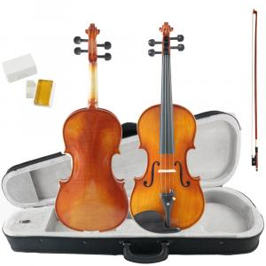Kinglos 4/4 Full Size Solid Wood Violin with Case - PHA-1009