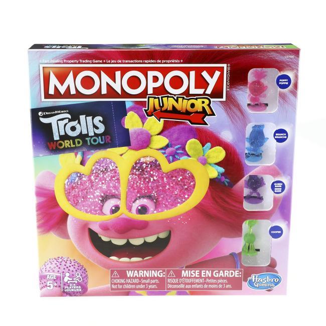 Hasbro Monopoly Junior: DreamWorks Trolls World Tour Edition Board Game - E7496