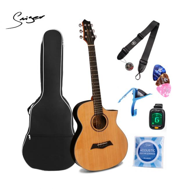Smiger 40Inch Mid-Level Acoustic Guitar, Natural - FN-70-N