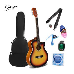 Smiger 40Inch High Quality Acoustic Guitar Pack - GA-H10-3TS