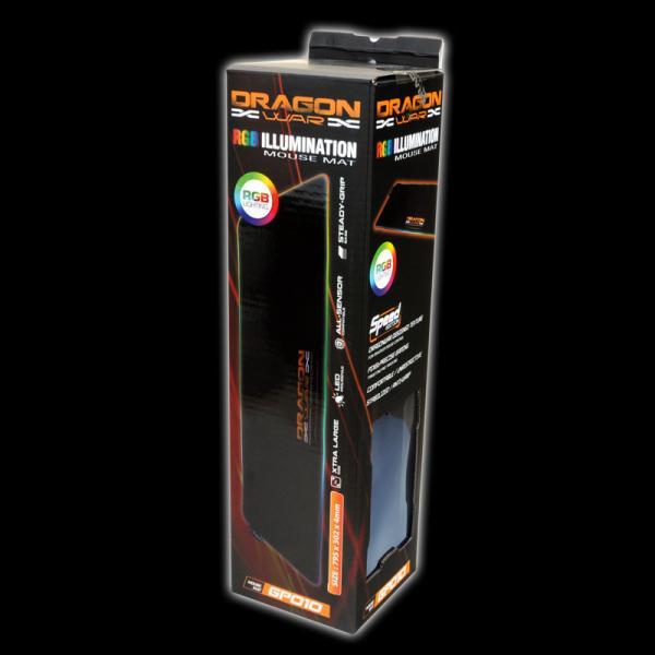 Dragon War RGB Light Effect Gaming Mouse Pad - GP-010