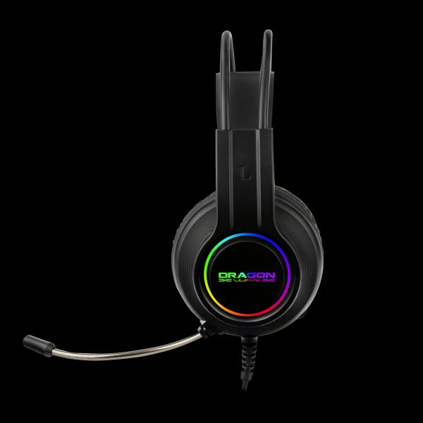 Dragon War 7.1 Sound Effect RGB Lighting Effect And Light Weight Gaming Headset - G-HS-013