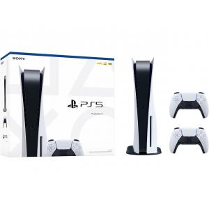 Sony PlayStation 5 Console Disc Edition PS5 Bundle with Extra DualSense Wireless Controller