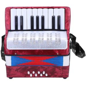 Artland Accordion 17 Key Piano For Beginners, Red - AT1708-R