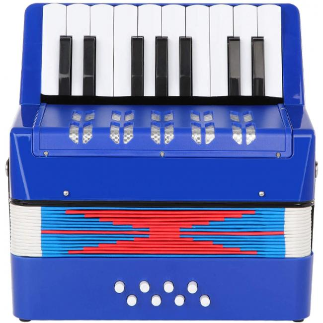 Artland Accordion 17 Key Piano For Beginners, Blue - AT1708-B