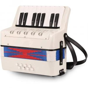 Artland Accordion 17 Key Piano For Beginners, White - AT1708-W