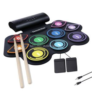 Artland Electronic Hand Roll Digital Drum Black And White - MD-862