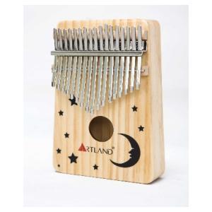 Artland 17 Key Natural Drawing Pine Kalimba Thumb Piano - AT-KSM - Moon