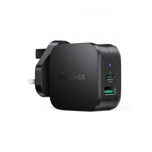 RAVPower PD Pioneer 30W 2-Port Wall Charger - RP-PC144