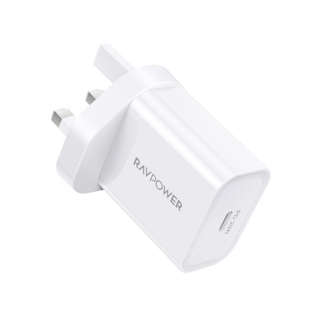 RAVPower RP-PC147 PD Pioneer 20W Wall Charger White UK
